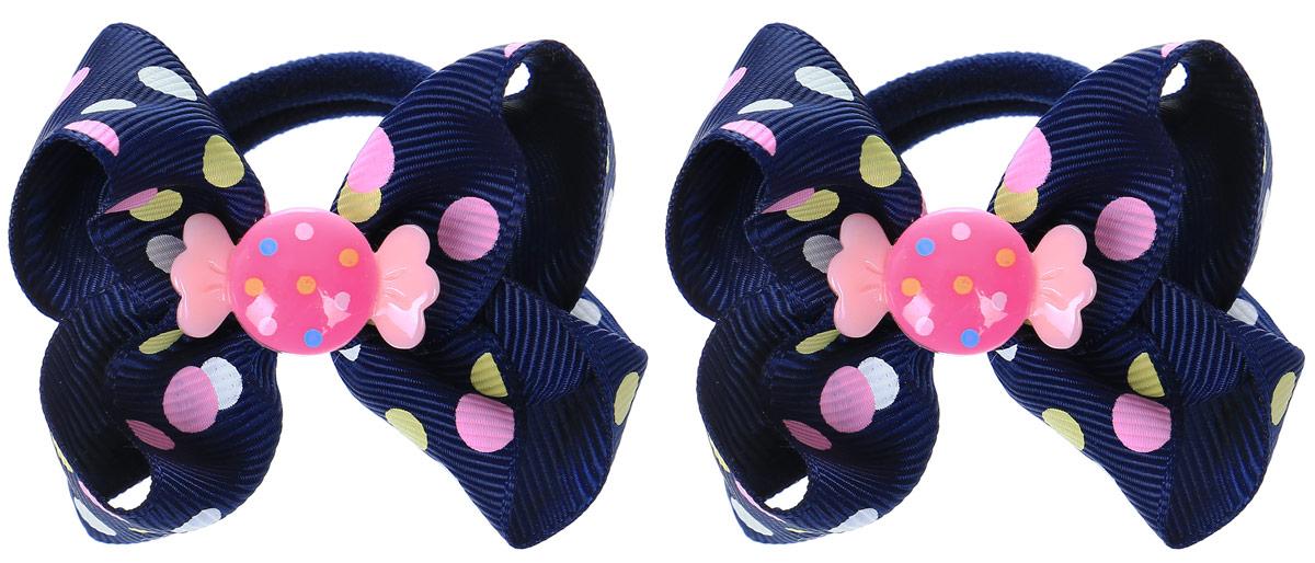 Babys Joy Резинка для волос Конфетка цвет темно-синий 2 шт MN 163/2MN 163/2_темно синий/конфеткаРезинка для волос Babys Joy станет отличным дополнением к прическе вашей малышки. В набор входят две текстильные резинки, дополненные декоративным элементом в виде бантика и пластиковой конфетки. Резиночки хорошо тянутся и прекрасно держат волосы.