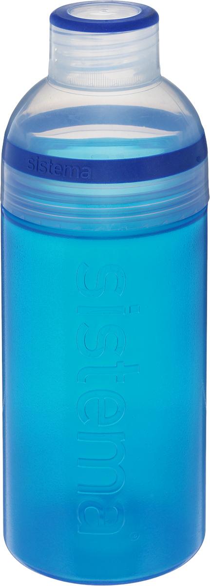 Бутылка для воды Sistema Trio, цвет: синий, 580 мл830_синийБутылка для воды Sistema Trio изготовлена из прочного пищевого пластика без содержания фенола и других вредных примесей. Она отлично подходит для разных напитков, особенно для прохладительных со льдом. Конструкция бутылки оригинальна и хорошо продуманна. Помимо крышки, закрывающей широкое горлышко бутылки, в емкости есть еще одна отвинчивающаяся часть. Верхняя часть бутылки откручивается, позволяя поместить в емкость кубики льда или кусочки фруктов. Кроме того, эта верхняя часть может использоваться как кружка для питья. С такой бутылкой вы сможете где угодно насладиться вашими любимыми напитками. Диаметр горлышка: 3 см. Диаметр бутылки (съемная часть): 7 см. Высота бутылки: 20,5 см.