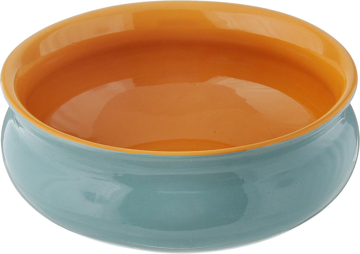 Тарелка глубокая Борисовская керамика Скифская, цвет: бирюзовый, желтый, 800 млРАД14457937_бирюзовый, желтыйГлубокая тарелка Борисовская керамика Скифская выполнена из высококачественной керамики. Изделие сочетает в себе изысканный дизайн с максимальной функциональностью. Она прекрасно впишется в интерьер вашей кухни и станет достойным дополнением к кухонному инвентарю. Тарелка Борисовская керамика Скифская подчеркнет прекрасный вкус хозяйки и станет отличным подарком. Можно использовать в духовке и микроволновой печи. Диаметр тарелки (по верхнему краю): 16 см. Объем: 800 мл.