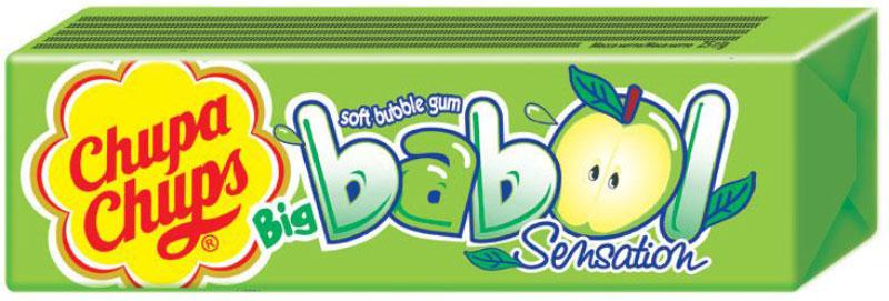 Chupa-Chups Big Babol Sensation жевательная резинка, 24 шт по 21 г