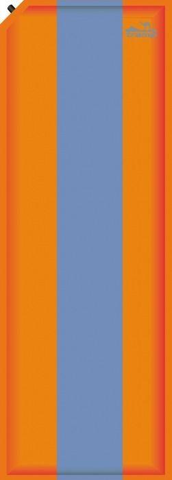 Коврик самонадувающийся Tramp, цвет: оранжевый, синий, 190х60х5,0см. TRI-006TRI-006Внутренняя структура: горизонтальные каналы Размер: 190 х 60 х 5 см Клапан: пластик Допустимая нагрузка: до 130 Материал: Polyester 75D/PVC/WR Полный вес: 1,8 кг Размер в упаковке: 60х17 см Ковер имеет чехол и стягивающие ремни.