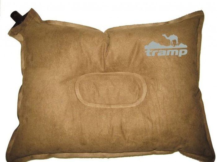 Подушка самонадувающаяся Tramp, цвет: бежевый, 43х34х8,5 см. TRI-012