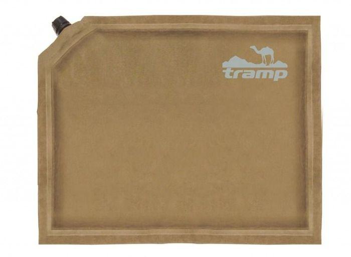 Сиденье самонадувающееся Tramp комфорт плюс Tramp, цвет: бежевый, 30х40х7,0 см. TRI-014