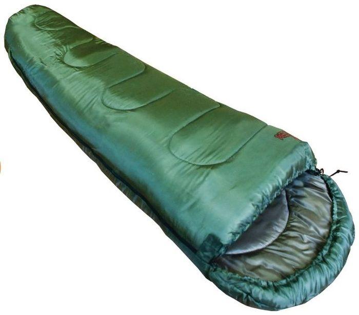 Спальный мешок Тотеm Hunter XXL R, цвет: олива, правая молния. TTS-005TTS-005_RРазмер: 90 (55) х 220 см Количество слоев: 1 Температура комфорта: 7 Нижний предел комфорта: 0 Температура экстрима: -5 Полный вес: 1250 г Размер в сложенном виде: 36 х 22 см Эксплуатация После каждого использования следует хорошо просушить спальный мешок на солнце. Внимание! Не используйте спальный мешок в близи открытого огня! При укладке спального мешка в компрессионный мешок, не пытайтесь его складывать или скатывать. Следует вталкивать его хаотично. Это позволит избежать смятых волокон и потертостей на месте сгиба. Уход Спальный мешок следует стирать только при появлении сильных загрязнений, так как каждая стирка ухудшает его теплоизоляционные свойства. Рекомендуется ручная стирка при температуре не выше 40 С. При стирке используйте специальные моющие средства для синтетических наполнителей, которые можно приобрести в специализированных магазинах. Не используйте отбеливатель и ополаскиватель для белья – это может повредить волокна...