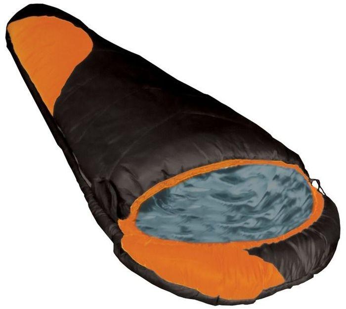 Спальный мешок Tramp WINNIPEG R, цвет: черный, оранжевый, правая молния. TRS-003.06 TRS-003.06_R