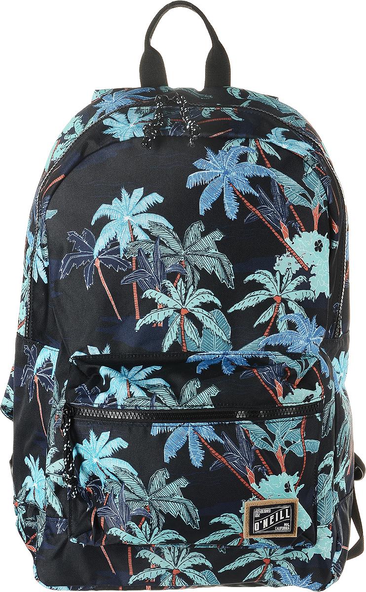 Рюкзак городской ONeill Bm Coastline Backpack, цвет: черный, зеленый7A4016-9900