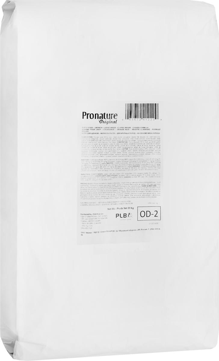 Корм сухой Pronature Original 28, для щенков крупных пород, цыпленок, 20 кг102.562