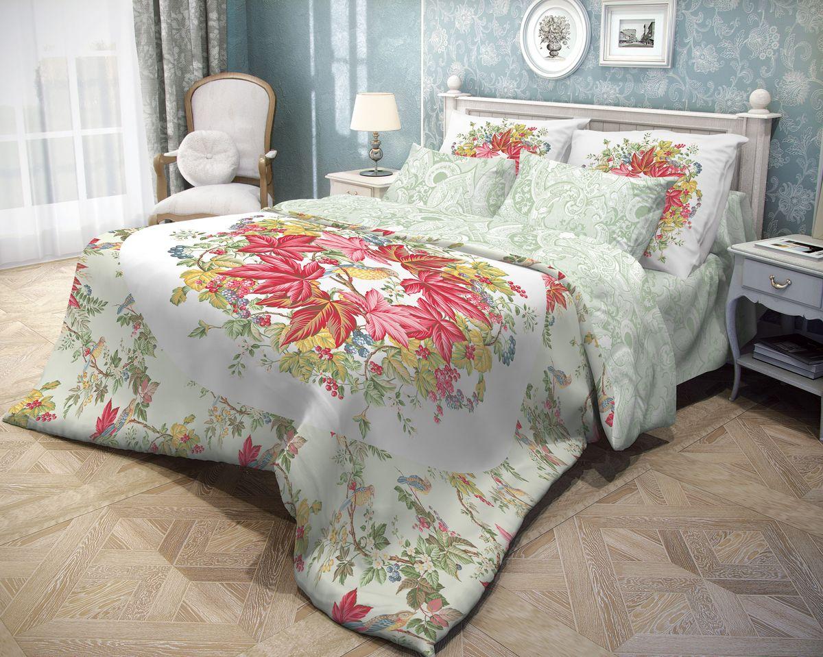 Комплект белья Волшебная ночь Bird Garden, 1,5-спальный, наволочки 70х70, цвет: белый, красный, зеленыйS03301004Роскошный комплект постельного белья Волшебная ночь Bird Garden выполнен из натурального ранфорса (100% хлопка) и оформлен оригинальным рисунком. Комплект состоит из пододеяльника, простыни и двух наволочек. Ранфорс - это новая современная гипоаллергенная ткань из натуральных хлопковых волокон, которая прекрасно впитывает влагу, очень проста в уходе, а за счет высокой прочности способна выдерживать большое количество стирок. Высочайшее качество материала гарантирует безопасность.