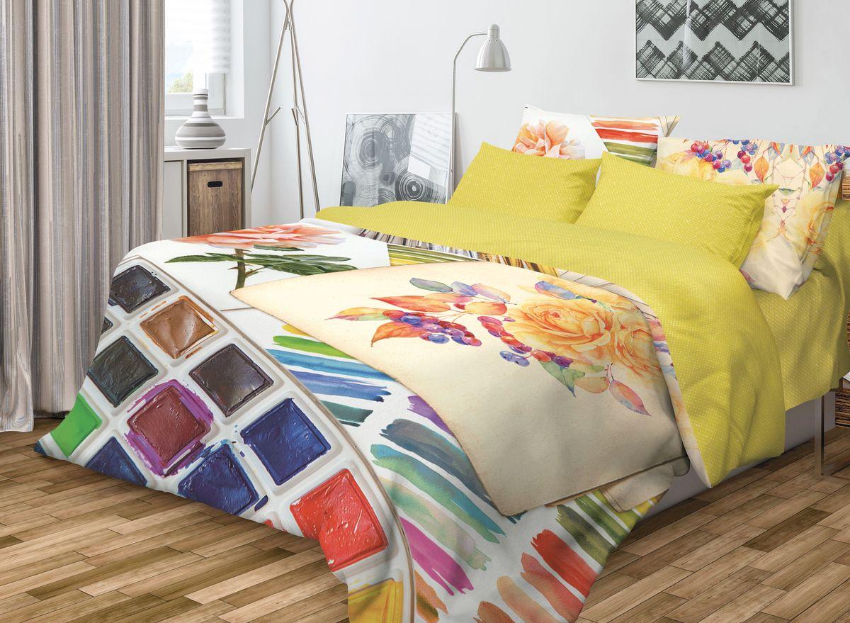 Комплект белья Волшебная ночь Paint, 1,5-спальный, наволочки 70х70706770