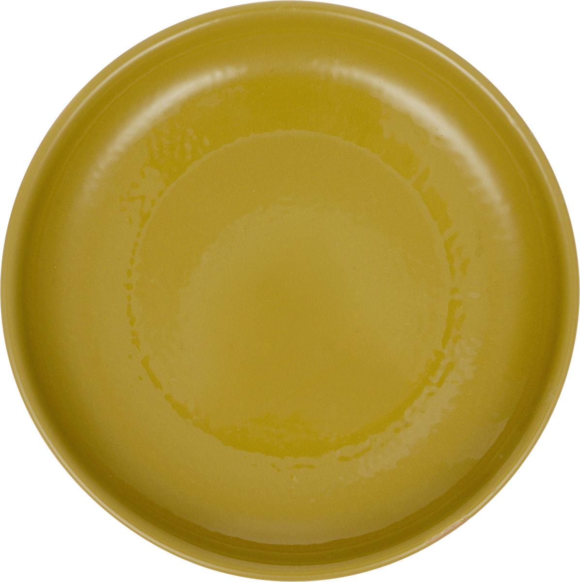 Тарелка Борисовская керамика Радуга, цвет: горчичный, диаметр 18 смРАД00000458_горчичныйТарелка Борисовская керамика Радуга, изготовленная из керамики, имеет изысканный внешний вид. Изделие идеально подойдет для сервировки стола. Тарелка отлично впишется в любой интерьер современной кухни и станет отличным подарком для вас и ваших близких. Можно использовать в духовке и микроволновой печи. Диаметр тарелки: 18 см. Высота тарелки: 3 см.