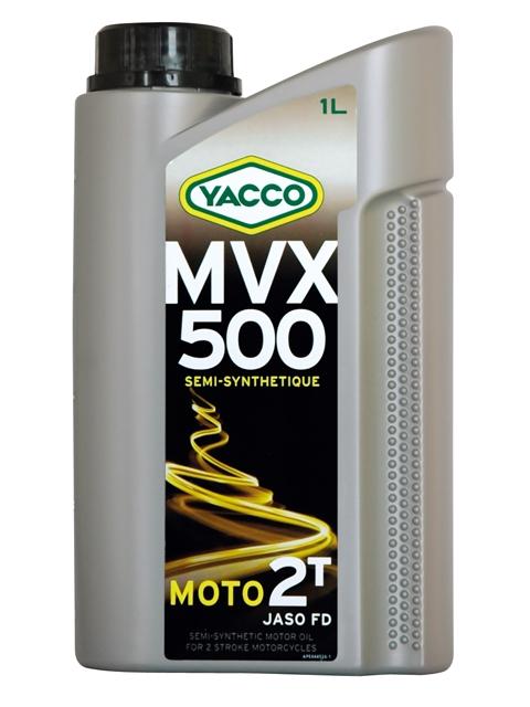 Масло моторное Yacco MVX 500 2T, 1 л333425MVX 500 2T Полусинтетическое масло для 2-тактных двигателей мотоциклов ПРИМЕНЕНИЕ Масло специально разработано и рекомендуется для смазки 2-тактных двигателей мотоциклов, мопедов, работающих на повышенном режиме или в жестких условиях эксплуатации. Подходит для отдельной смазки или для использования в смесях. Концентрация при смешивании: от 2% до 4% в зависимости от рекомендаций производителя. ПРЕИМУЩЕСТВА • Предотвращает образование отложений в системе выпуска • Отличная антикоррозионная защита внутренних компонентов двигателя • Высокоэффективная защита узла «цилиндр/поршень/кольца» во избежание рисков заклинивания двигателя • Подкраска масла в синий цвет указывает на ее присутствие в смеси • Препятствует образованию нагара на свечах и закоксовыванию поршневых колец СПЕЦИФИКАЦИИ И ОДОБРЕНИЯ MVX 500 2T официально одобрено: JASO FD MVX 500 2T соответствует требованиям спецификаций: API TC; ISO-L-EGD