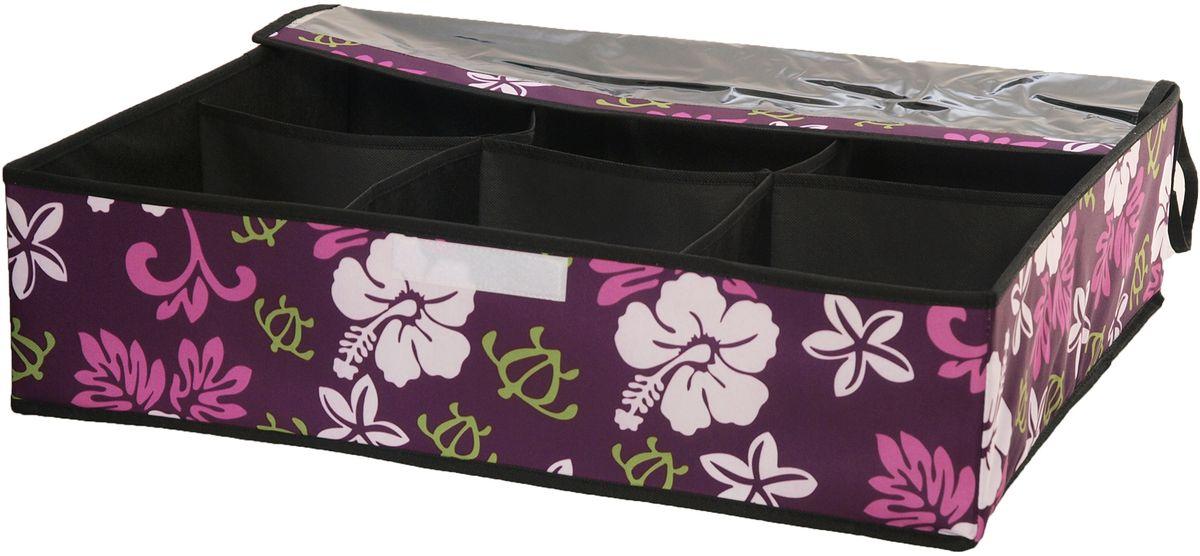 Кофр для хранения обуви HomeMaster, 60 х 50 х 15 смSTI014Кофр предназначен для хранения 6ти пар обуви. Он обеспечит бережное хранение и позволит организовать внутреннее пространство вашего дома. Вы всегда, быстро найдете нужную пару обуви благодаря прозрачной поверхности.