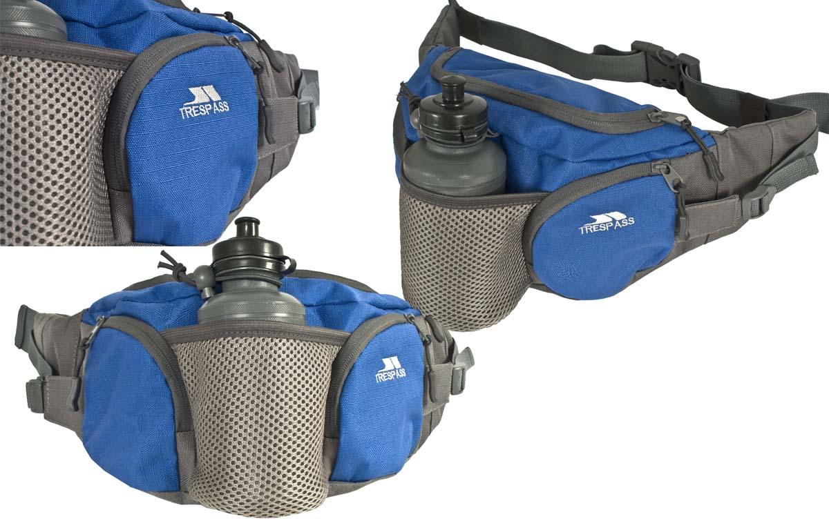 Сумка поясная Trespass Vasp, с бутылкой 0,75 мл3-47670-00504Сумка на пояс Trespass Vasp - это удачный выбор для спортсменов и любителей пеших походов. Модель комплектуется пластиковой бутылочкой емкостью 75 мл. Поясной ремешок сумки регулируется по размеру. Сумка дополнена несколькими практичными карманами.