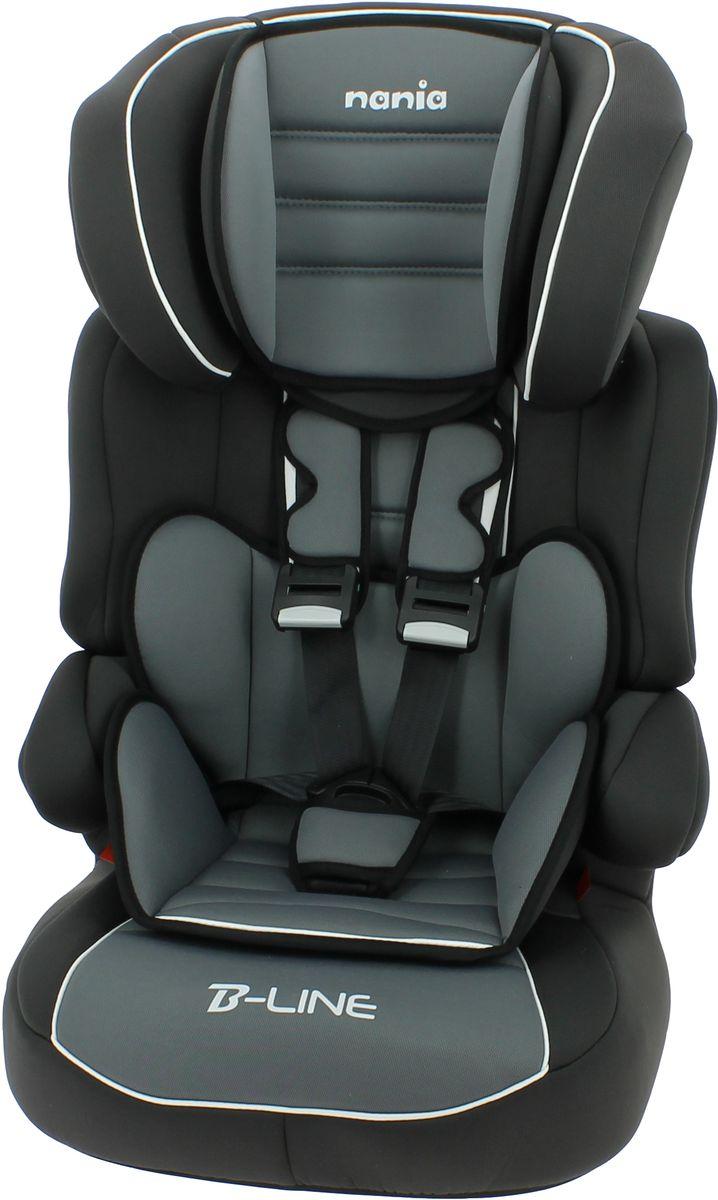 Nania Автокресло Beline SP LX от 9 до 36 кг цвет черный серыйSC-FD421005Автокресло nania Beline SP относится кгруппе 1/2/3, от 8 месяцев до 12 лет (9 - 36 кг). Соответствует стандартам ECE R44/04Nania Beline SP - это два кресла в одном. Оно охватывает все возрастные группы в возрасте примерно от 8 месяцев до 12 лет (когда ребенка в автомобиле уже можно перевозить без специального удерживающего устройства) благодарярегулируемой по высоте спинке. Когда ребенок подрастет, спинку автокресла можно отстегнуть и использовать только бустер. Автокресло было разработано согласно самым жестким требованиям безопасности, а также учитывая ортопедические факторы: мягкая приятная на ощупь обивка и анатомичная форма. Ребенок будет чувствовать себя комфортно даже в дальних поездках.Широкие мягкие подголовник, спинка и подлокотники обеспечат дополнительный комфорт и безопасность маленького пассажира даже в случае бокового столкновения. Высоту подголовника можно регулировать по высоте, кресло растет вместе с ребенком. Все тканевые части легко снимаются и стираются.