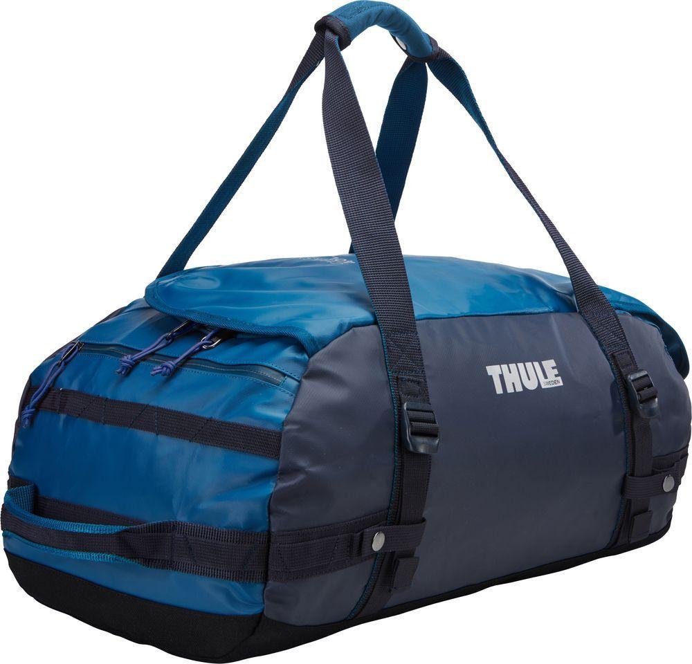 Спортивная сумка-баул Thule Chasm, цвет: синий, 40 л. Размер S221102Thule Chasm Small - Эти жесткие, устойчивые к неблагоприятным погодным условиям сумки с широко раскрывающимся основным отделением и съемными ремнями — ваши надежные спутники в любой поездке.