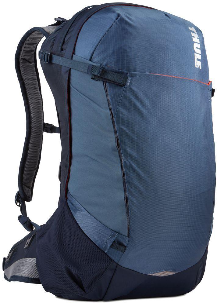 Рюкзак туристический мужской Thule Capstone, цвет: синий, 32 л800802Подходит для путешествий на целый день, имеет регулируемую подвеску, воздухопроницаемую заднюю панель и вшитый дождевой чехол.