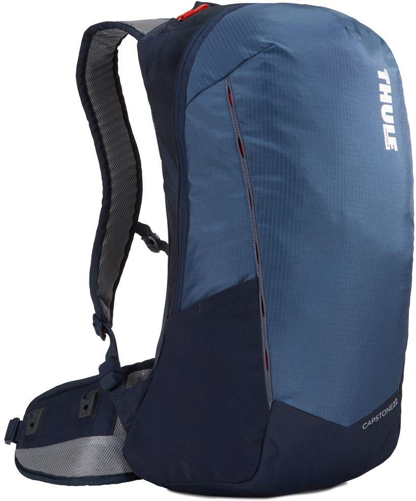 Рюкзак туристический мужской Thule Capstone, цвет: синий, 22 л. 225104225104Надежный рюкзак для ежедневного использования с воздухопроницаемой задней панелью и вшитым дождевым чехлом.
