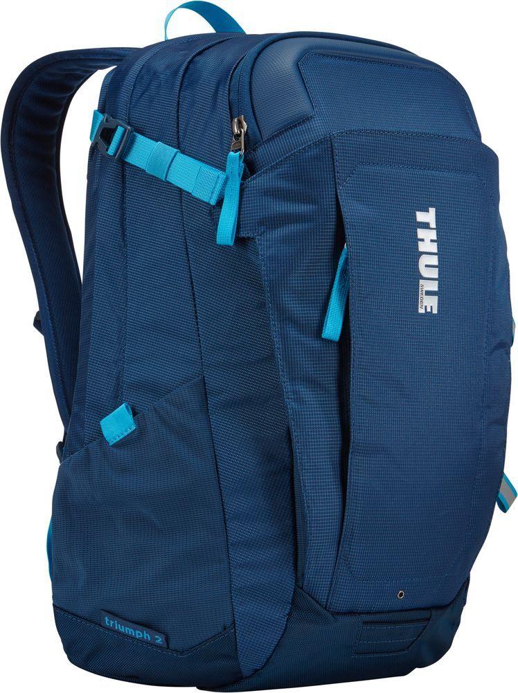Рюкзак городской Thule EnRoute Triumph, цвет: синий, 21 лH009Рюкзак Thule EnRoute Triumph 2 - Рюкзак объемом 21 л с конструкцией SafeEdge для защиты ноутбука и отделениями для хранения самых необходимых повседневных вещей.