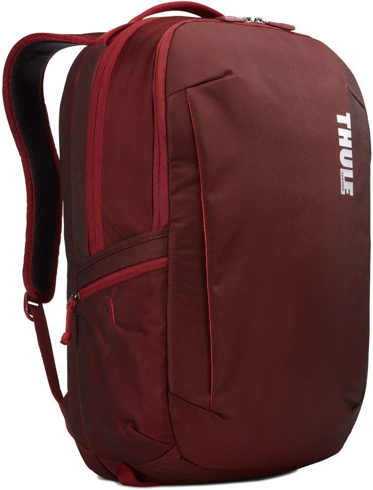 Рюкзак городской Thule Subterra Backpack, цвет: темно-бордовый, 30 л3203419Вместительный и прочный дорожный рюкзак с функцией защиты электроники и отделением PowerPocket для упорядоченного хранения шнуров и зарядных устройств.