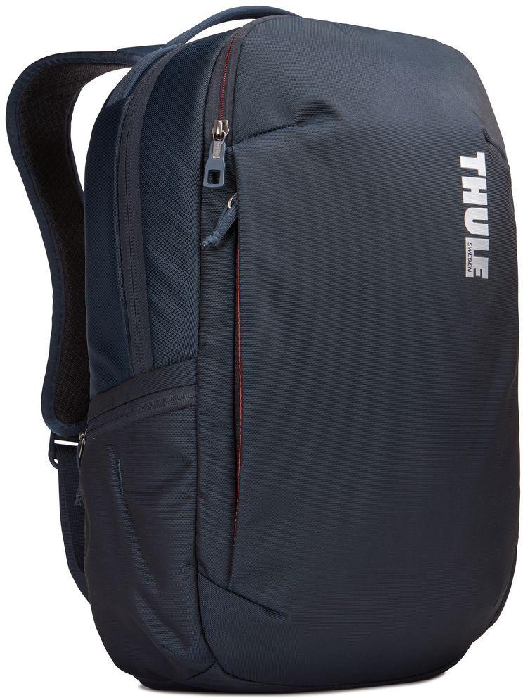 Рюкзак городской Thule Subterra Backpack, цвет: темно-синий, 23 л3203438Стильный дорожный рюкзак с защитой электронных устройств и отделением PowerPocket для упорядоченного хранения шнуров и зарядных устройств.