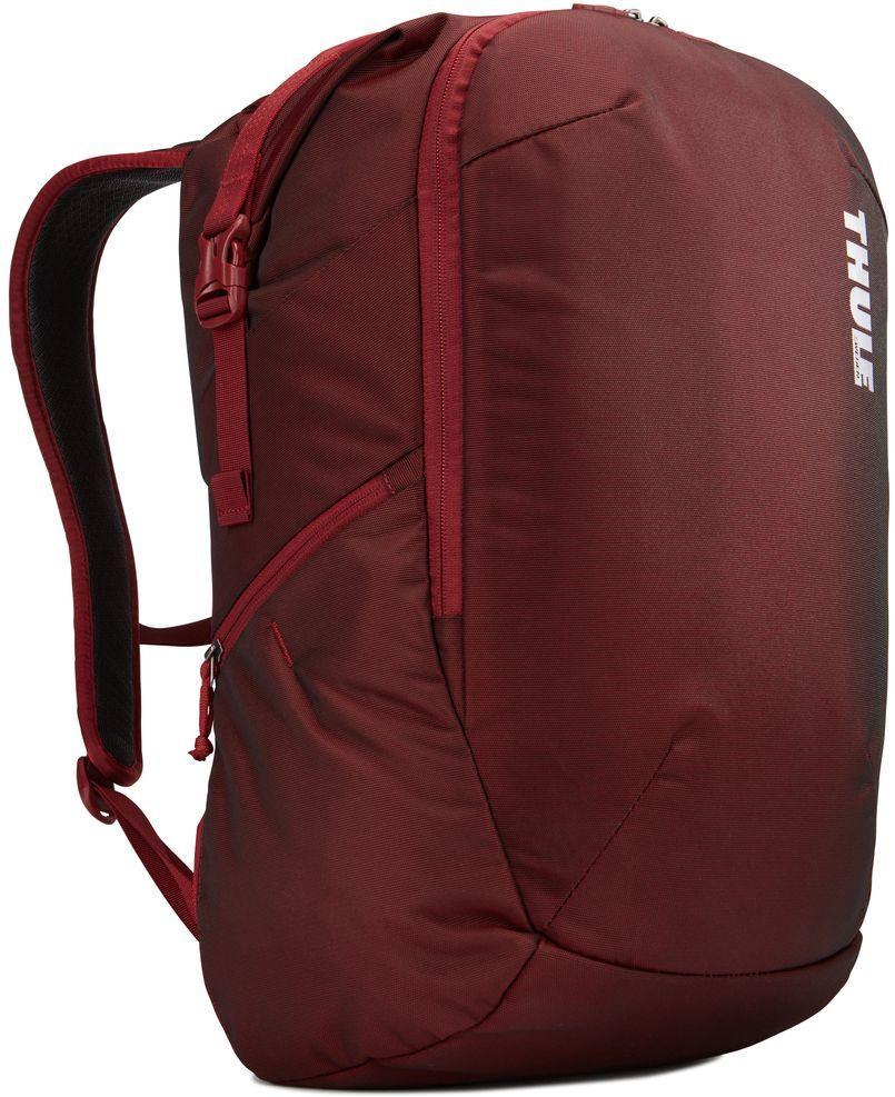 Рюкзак городской Thule Subterra Backpack, цвет: темно-бордовый, 34 л3203442Рюкзак двойного назначения, который можно использовать как дорожную сумку или как обычный рюкзак. Отделение для хранения вещей пригодится для дальних поездок, выньте его при повседневном использовании.