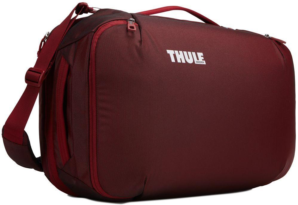 Сумка дорожная Thule Subterra Carry-On, цвет: темно-бордовый, 40 л3203445Универсальный мягкий чемодан отличается исключительной вместимостью. Имеет встроенный чехол для ноутбука, который очень пригодится в поездке.