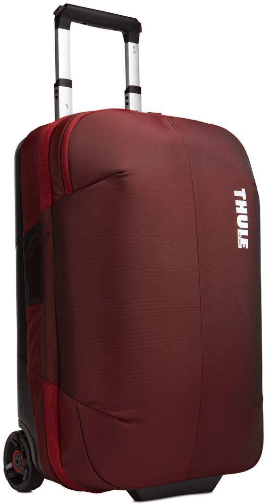 Сумка дорожная Thule Subterra Rolling, цвет: темно-бордовый, 36 л3203448Стильный и надежный чемодан на двух колесах с прижимной панелью, которая позволяет увеличить пространство, уплотняя сложенную одежду, но не сминая ее.