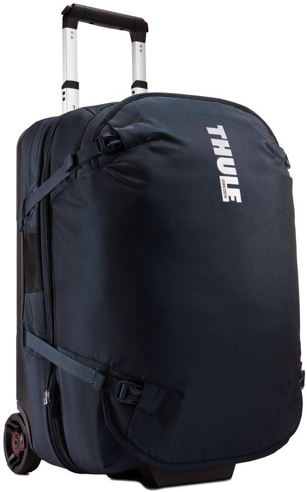 Сумка дорожная Thule Subterra Duffel, цвет: темно-синий, 56 л3203450Багажная сумка «три в одном» легко разделяется на два независимых отделения для переноски, отвечающих требованиям к багажу.
