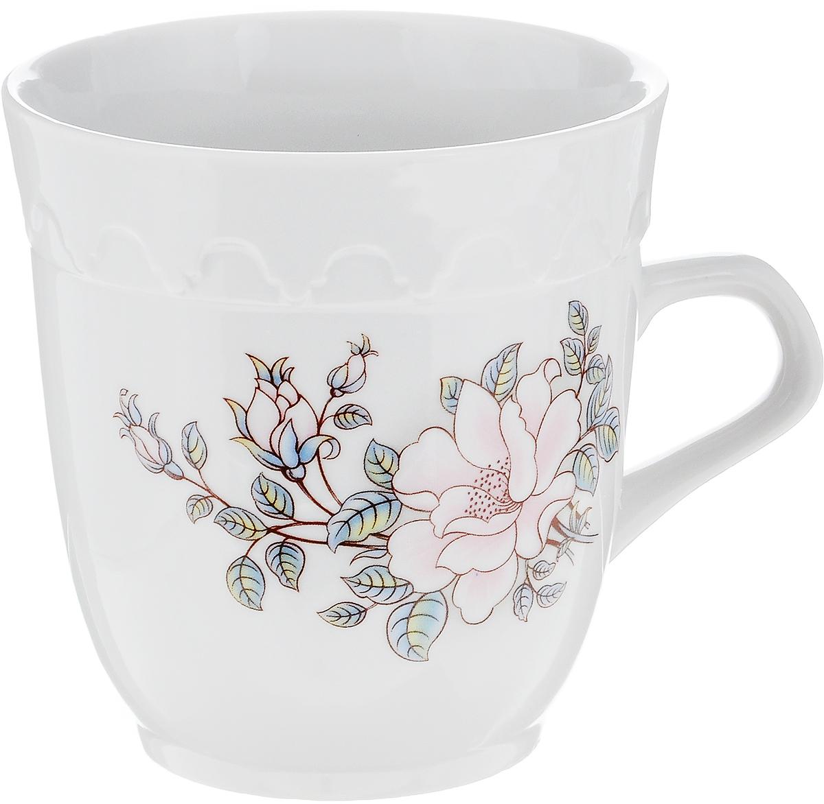 Кружка Фарфор Вербилок Арабеска. Микс. Розовые цветы, 250 мл115610Кружка Фарфор Вербилок Арабеска. Микс. Розовые цветы выполнена из высококачественного фарфора с глазурованным покрытием и оформлена оригинальным принтом. Посуда из фарфора позволяет сохранить истинный вкус напитка, а также помогает ему дольше оставаться теплым. Изделие оснащено удобной ручкой. Такая кружка прекрасно оформит стол к чаепитию и станет его неизменным атрибутом. Можно мыть в посудомоечной машине и использовать в СВЧ.Диаметр кружки (по верхнему краю): 8,5 см.Высота чашки: 9 см.