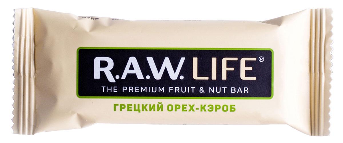 R.A.W.LIFE Грецкий орех-Кэроб орехово-фруктовый батончик, 47 г00106