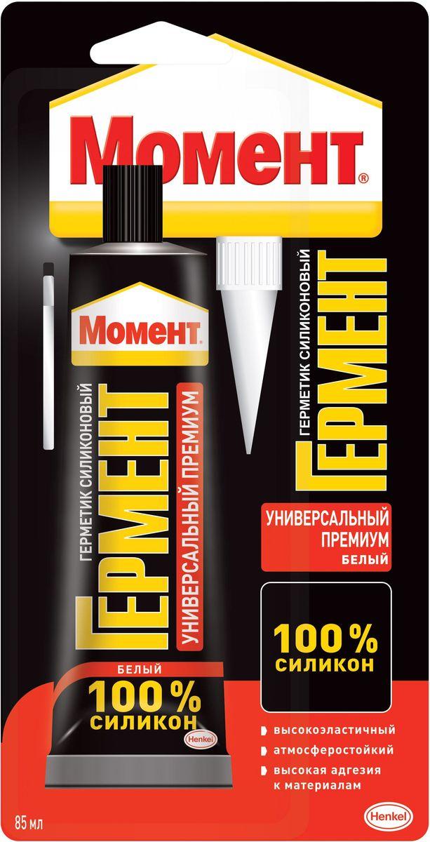 """Герметик силиконовый Момент Гермент """"Премиум"""", универсальный, цвет: белый, 85 мл 1374348"""
