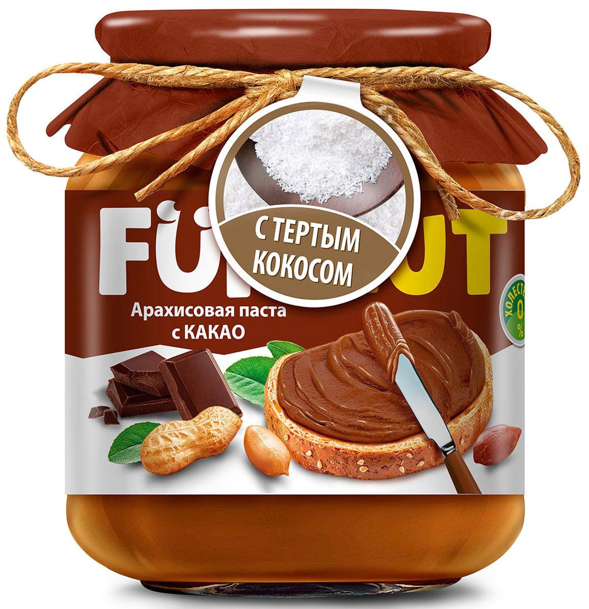 Funnat Арахисовая паста с какао с добавлением кокоса, 340 г4607125989812