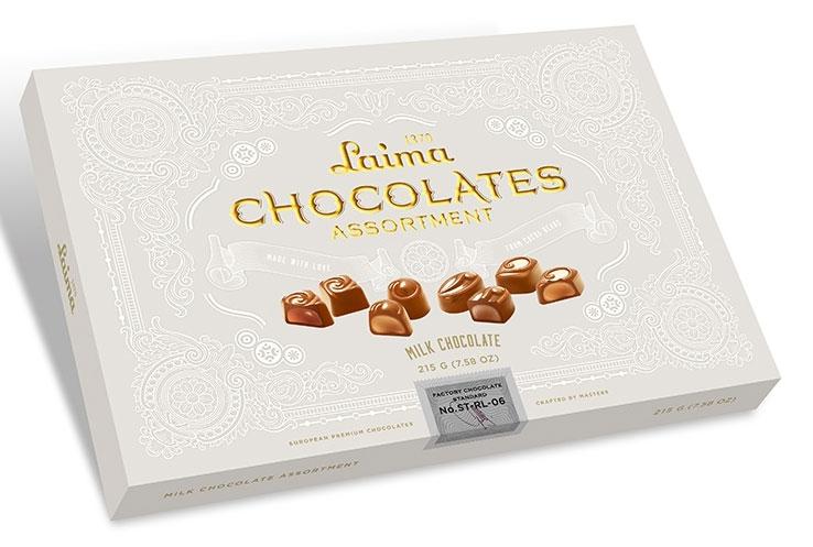 Laima Книги Ассорти конфет в молочном шоколаде, 215 г0120710Ассорти конфет в молочном шоколаде: 4 разные формы - 3 начинки (молочный крем, крем-какао, крем-ирис-тоффи).