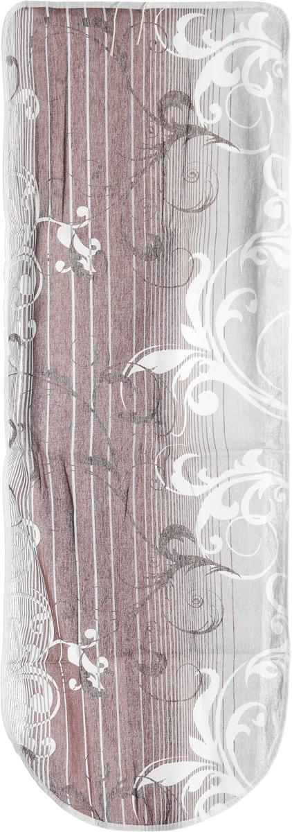 Чехол для гладильной доски Eva Грация, цвет: коричневый, серый, 125 х 47 смЕ13_коричневый, серыйЧехол Eva Грация, выполненный из хлопка со вспененным слоем, продлит срок службы вашей гладильной доски. Чехол снабжен стягивающим шнуром, при помощи которого вы легко отрегулируете оптимальное натяжение чехла и зафиксируете его на рабочей поверхности гладильной доски. Размер чехла: 125 х 47 см. Максимальный размер доски: 116 х 47 см.