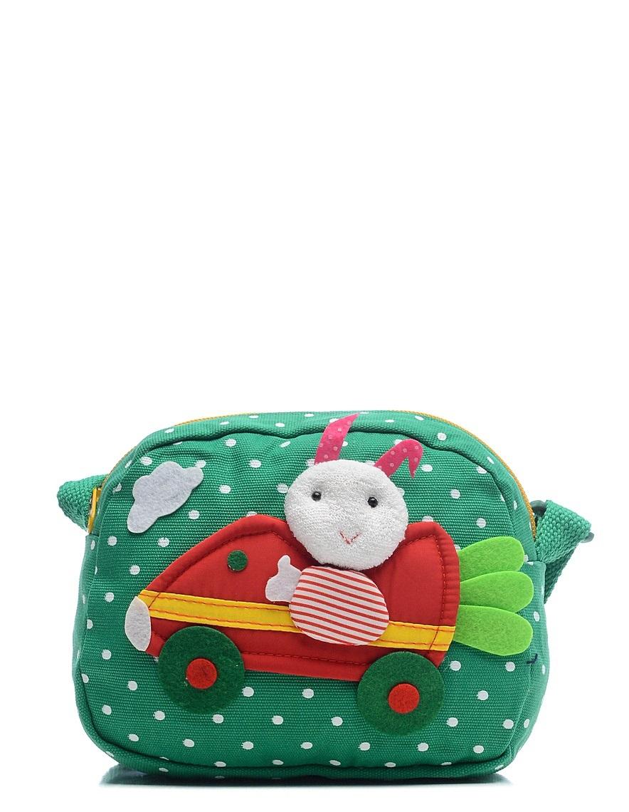 Сумка детская Vitacci, цвет: зеленый. 24012-63-47670-00504Детская стильная сумочка Vitacci выполнена из качественного текстиля.Сумка имеет одно вместительное отделение и застегивается на застежку-молнию. Внутри модель имеет один накладной открытый кармашек. Спереди сумка оформлена интересной декорацией из текстиля.Сумка оснащена съемным наплечным ремнем, который регулируется по длине.
