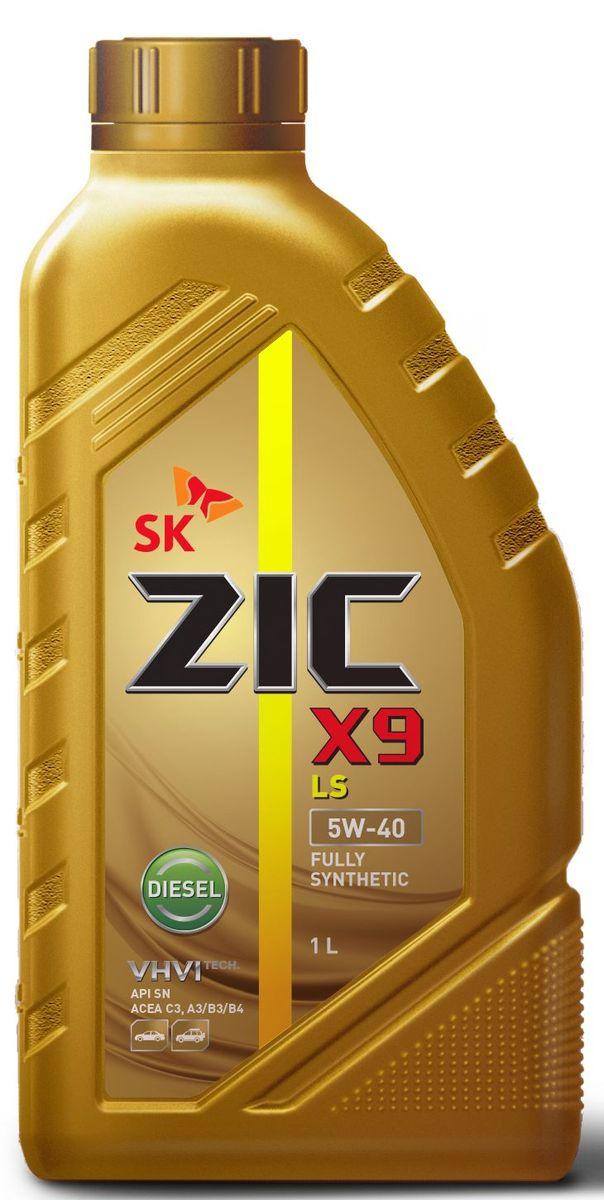 Масло моторное ZIC X9 LS Diesel, синтетическое, класс вязкости 5W-40, API SN/CF, 1 л. 132609
