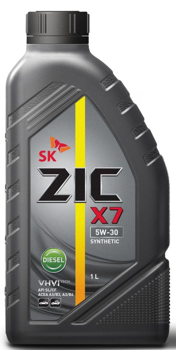 Масло моторное ZIC X7 Diesel, синтетическое, класс вязкости 5W-30, API SL/CF, 1 л. 132610