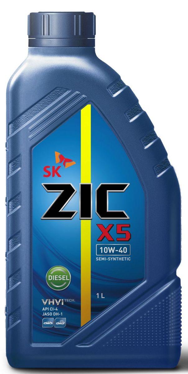 Масло моторное ZIC X5 Diesel, полусинтетическое, класс вязкости 10W-40, API CI-4, 1 л. 132660