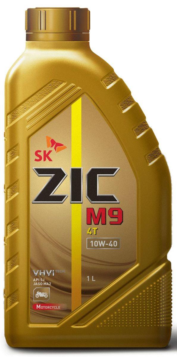 Масло моторное ZIC M9 4Т, синтетическое, класс вязкости 10W-40, API SN, 1 л. 137210