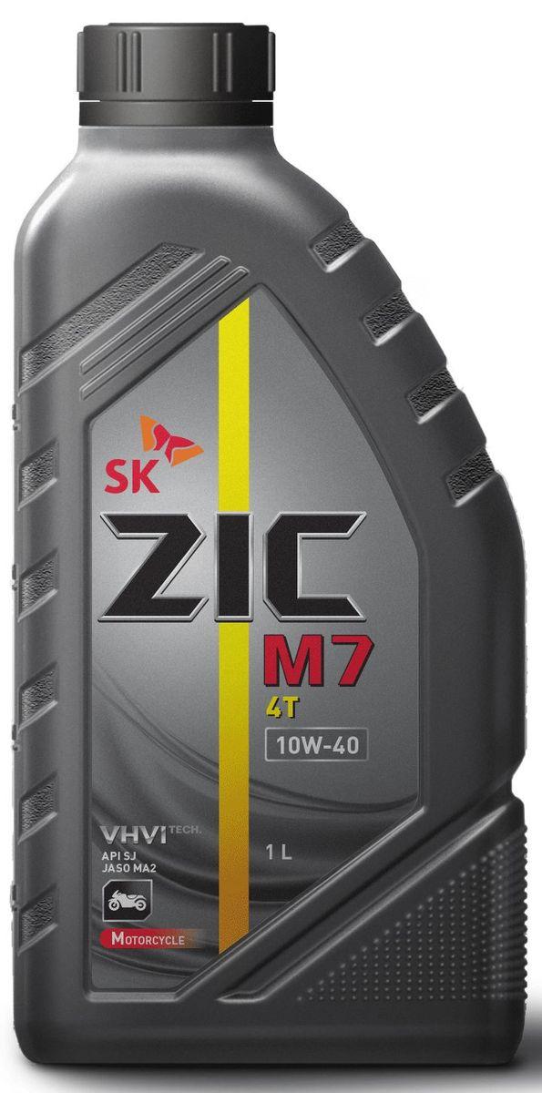 Масло моторное ZIC M7 4Т, синтетическое, класс вязкости 10W-40, API SL, 1 л. 137211