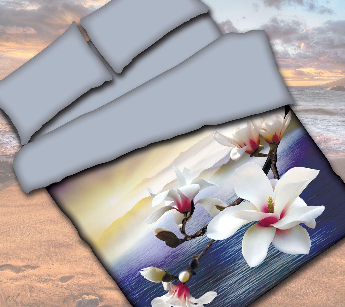 Комплект белья Коллекция Орхидея, 1,5-спальный, наволочки 50x70. СРП1,5/50/ОЗ/орхСРП1,5/50/ОЗ/орх