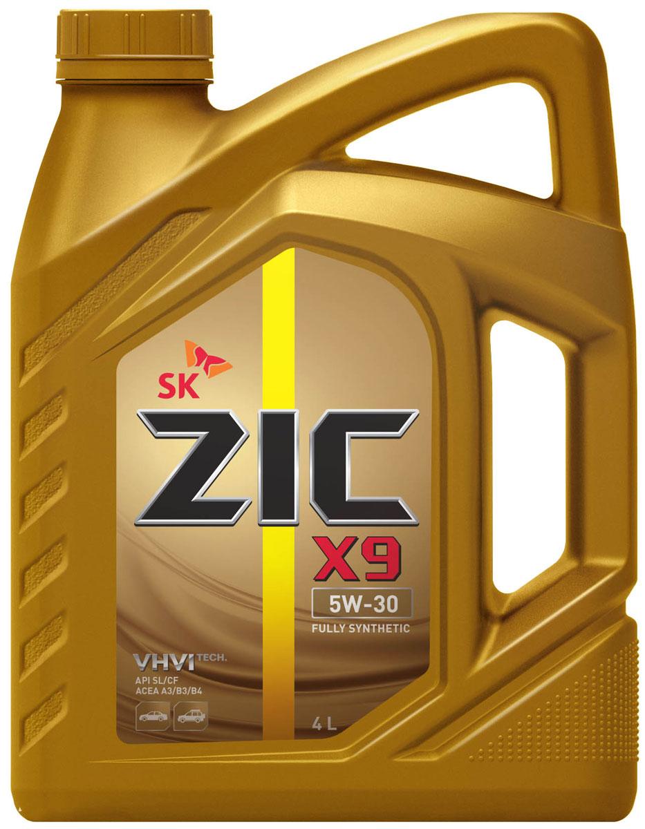 Масло моторное ZIC X9, синтетическое, класс вязкости 5W-30, API SL/CF, 4 л. 1626146280LKZIC X9 - всесезонное полностью синтетическое моторное масло премиум-класса, изготовленное на основе базового масла высочайшего качества YUBASE и современного пакета присадок. Синтетическая основа и комплекс специальных присадок гарантируют дополнительный ресурс эксплуатационных характеристик, что позволяет увеличивать интервал замены масла в случае наличия рекомендации производителя автомобиля.Плотность при 15°C: 0,8524 г/см3.Температура вспышки: 224°С. Температура застывания: -40°С.Индекс вязкости: 171.