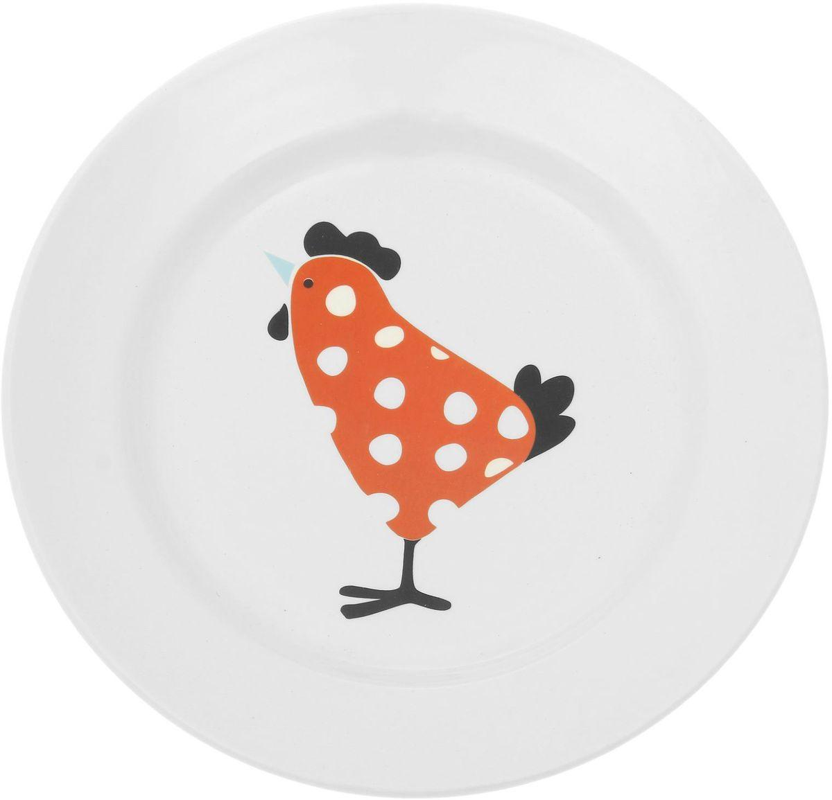 Тарелка мелкая Сотвори чудо My Chicken, диаметр 20 см1828180Хотите обновить интерьер кухни или гостиной? Устраиваете необычную фотосессию или тематический праздник? А может, просто ищете подарок для близкого человека? Посуда « Сотвори Чудо» — правильный выбор в любой ситуации. Её достоинства: изящный фаянс нежного сливочного цвета; стойкость краски; пригодность для посудомоечных машин.