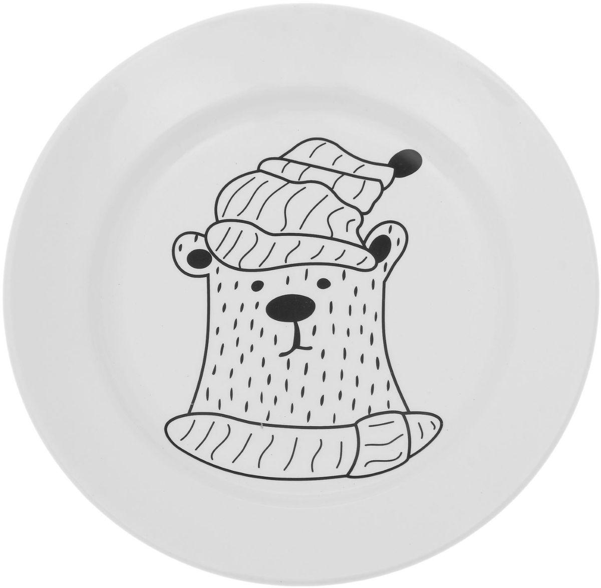 Тарелка мелкая Сотвори чудо Полярный мишка, диаметр 20 см1828181Хотите обновить интерьер кухни или гостиной? Устраиваете необычную фотосессию или тематический праздник? А может, просто ищете подарок для близкого человека? Посуда « Сотвори Чудо» — правильный выбор в любой ситуации. Её достоинства: изящный фаянс нежного сливочного цвета; стойкость краски; пригодность для посудомоечных машин.