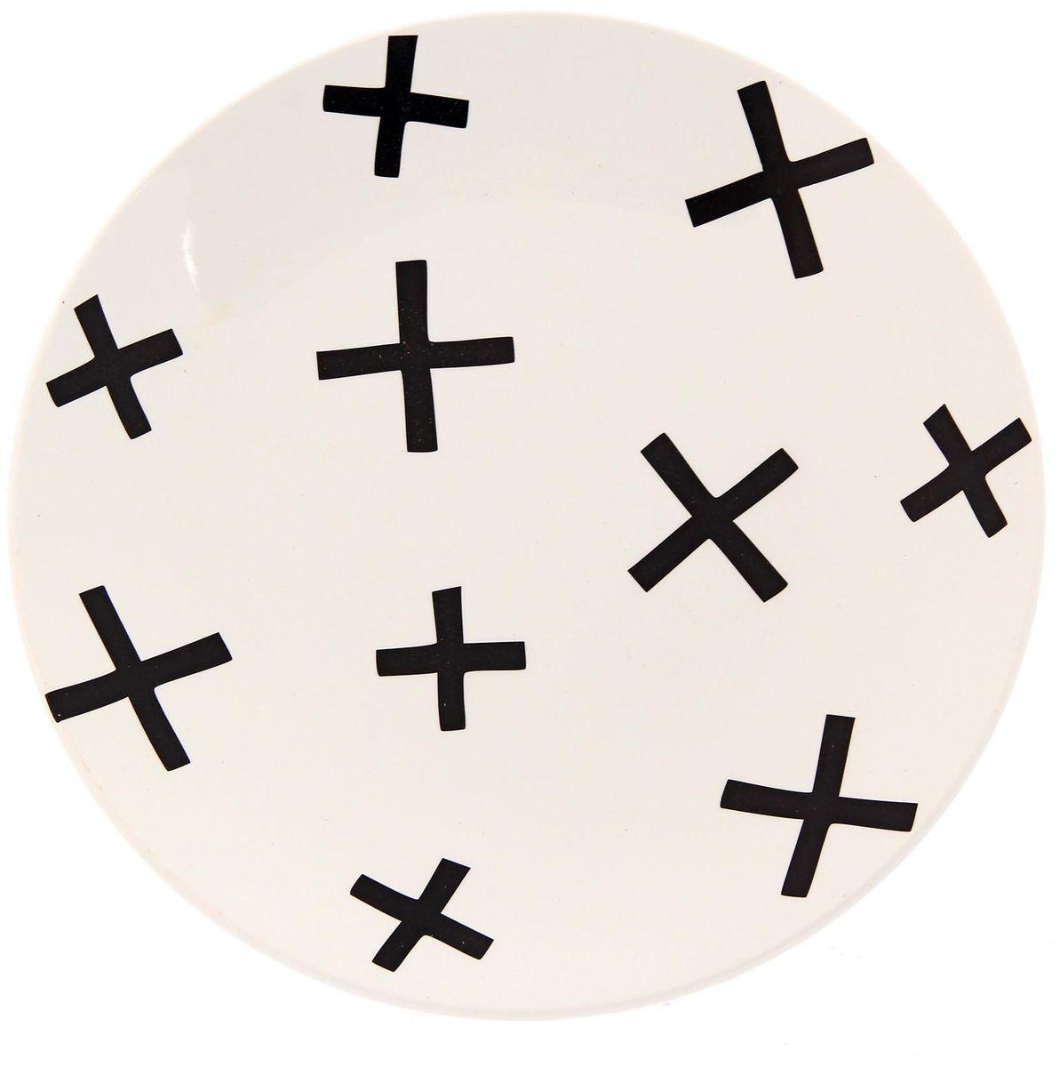 Тарелка Сотвори чудо My Little Cross, диаметр 22 см2277882Хотите обновить интерьер кухни или гостиной? Устраиваете необычную фотосессию или тематический праздник? А может, просто ищете подарок для близкого человека? Посуда « Сотвори Чудо» — правильный выбор в любой ситуации. Её достоинства: изящный фаянс нежного сливочного цвета; стойкость краски; пригодность для посудомоечных машин.