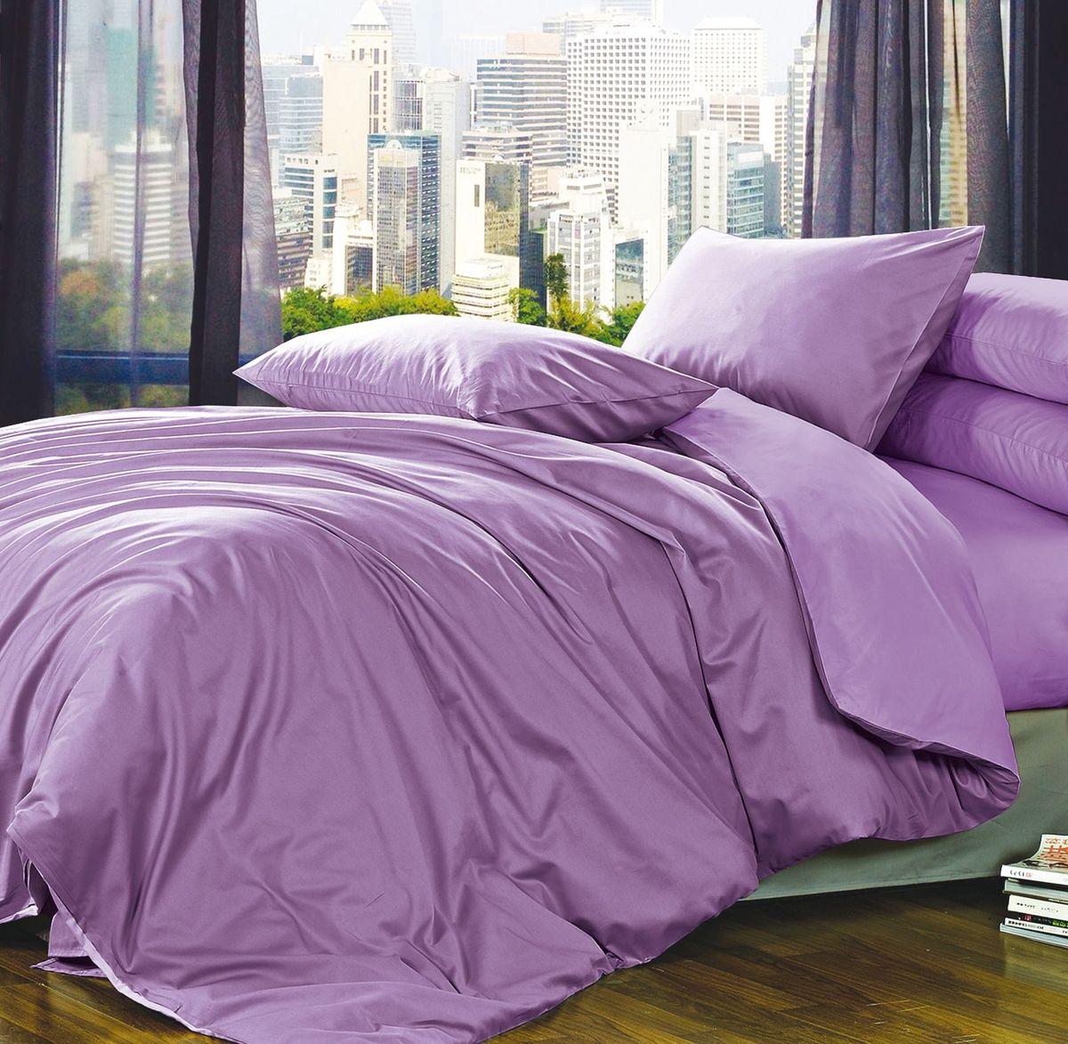 Комплект белья Коллекция Фиолетовый, 1,5-спальный, наволочки 50x70. ПС1.5/50/ОЗ/фПС1.5/50/ОЗ/ф