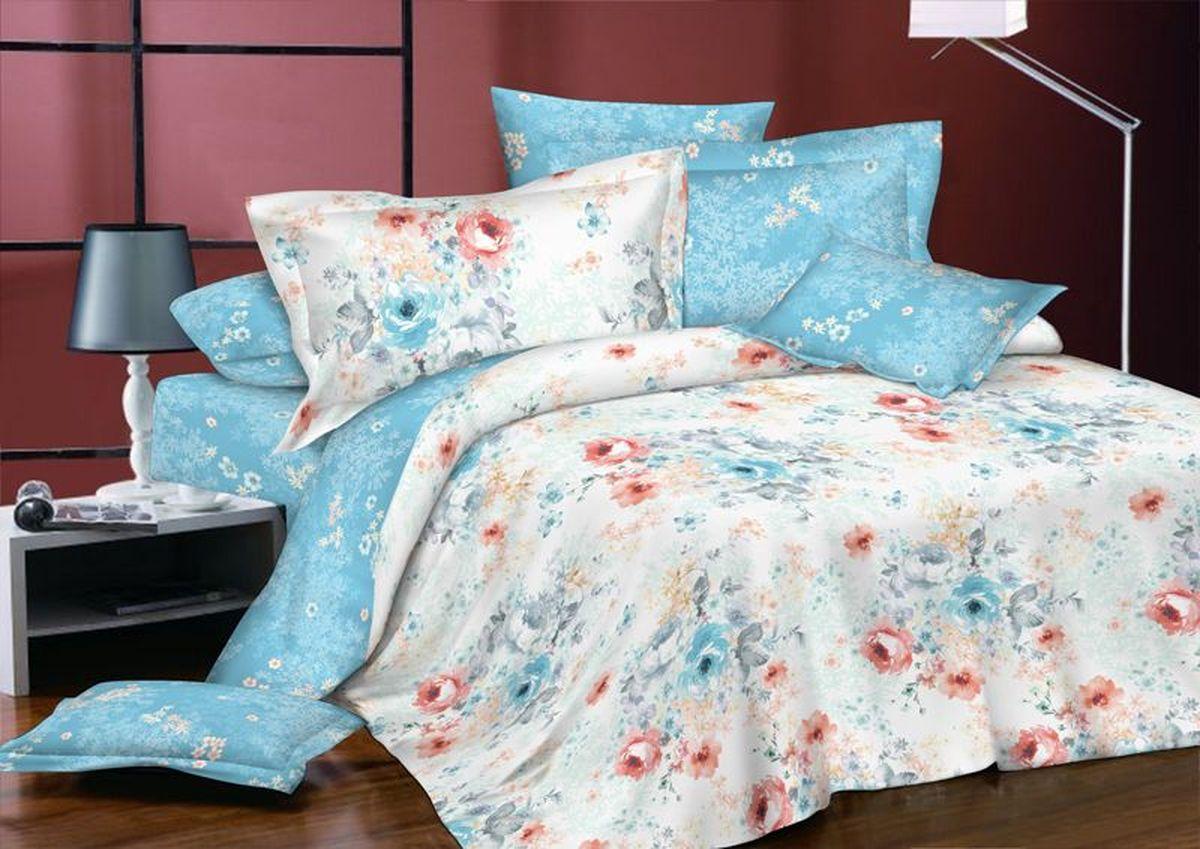 Комплект белья Коллекция Цветочный бриз, 2-спальный, наволочки 50x70. СП2/50/ОЗ/цбСП2/50/ОЗ/цб