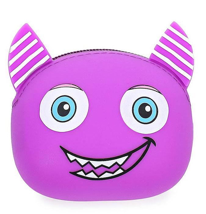 Кошелек детский Vitacci Kids, цвет: фиолетовый. 24072-724072-7Оригинальный детский кошелек Vitacci Kids изготовлен из мягкого безопасного силикона в мордочки забавного животного с ушками. Кошелек имеет одно отделение и закрывается на застежку-молнию.
