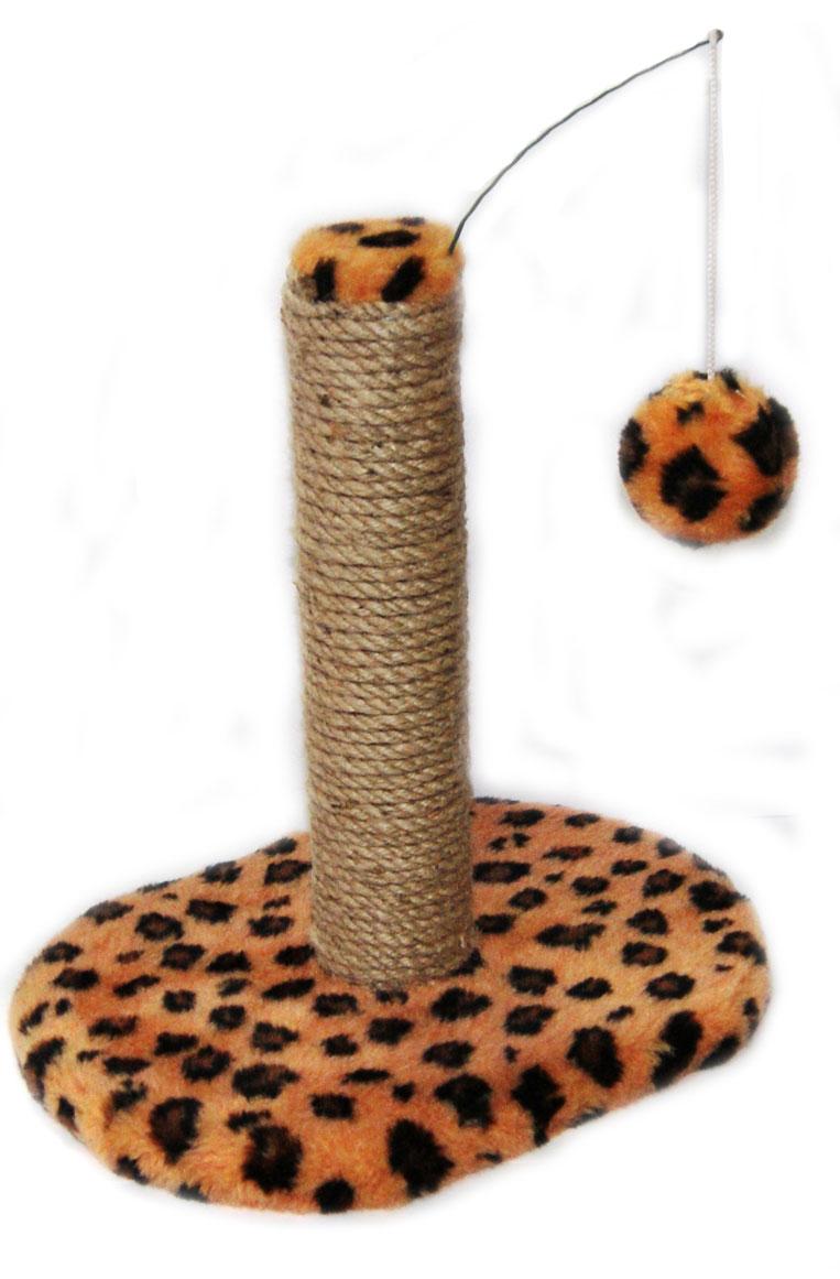 Когтеточка для котят Меридиан Леопардовая, на подставке, 30 х 24 х 35 смК702Ле