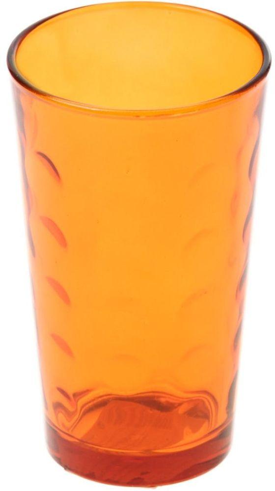 Стакан Доляна Маскарад, цвет: оранжевый, 340 мл335161Стеклянные изделия серии «Маскарад» подходят для повседневного использования. Стакан из стекла, окрашенного в яркий цвет методом напыления, порадует каждого ценителя оригинальности. Достоинства: оригинальный дизайн делает предмет украшением интерьера; материал не впитывает запахов; поверхность легко отмывается. Чтобы предмет радовал внешним видом как можно дольше, соблюдайте правила ухода: мойте только вручную; избегайте использования высокоабразивных средств и металлических губок; не допускайте падений и ударов. Окружайте себя красивой посудой и будьте в хорошем настроении!